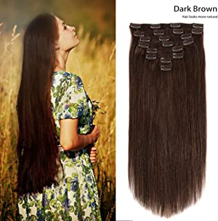 Clip on Human Hair Extensions 24
