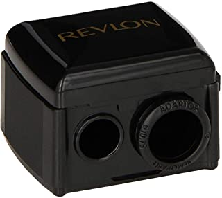 Revlon Universal Points Sharpener for All Wooden & Plastic Pencil Sizes, Dual Pencil Sharpener for Lip Liner, Eyebrow, and...
