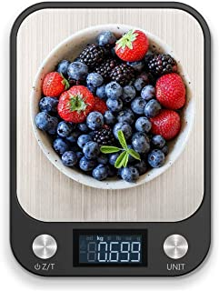 RoyalPolar Food Scale, Multifunction Digital Kitchen Scale High Accuracy Electronic Food Weight with Large LCD Display, St...