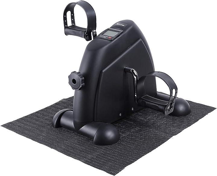 Mini cyclette portatile a pedale con monitor digitale e tappetino antiscivolo sportneer B07XBZ4W9P
