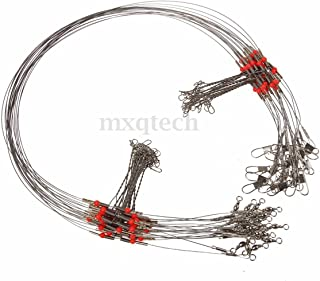 20pcs Wire Trace Leader Rig Stainless Steel 2 Arm Fishing Rigs Tackle Lure Swivel