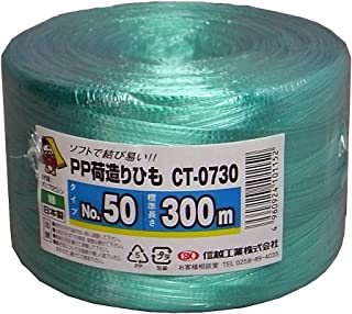 信越工業 荷造り梱包用 PPひも(テープ) 長さ300m 緑 CT0730