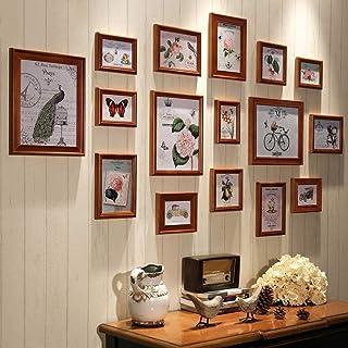ZHITENG Pantalla de Fotos de la Foto de Colgante American Solid Wood Decoration Photo Wall, Sala de Estar Restaurante Esca...