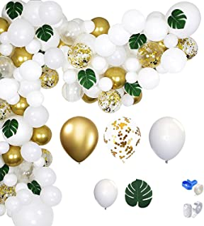 Shangpin white gold party theme balloon garland set Hawaiian balloon set boy birthday wedding decoration
