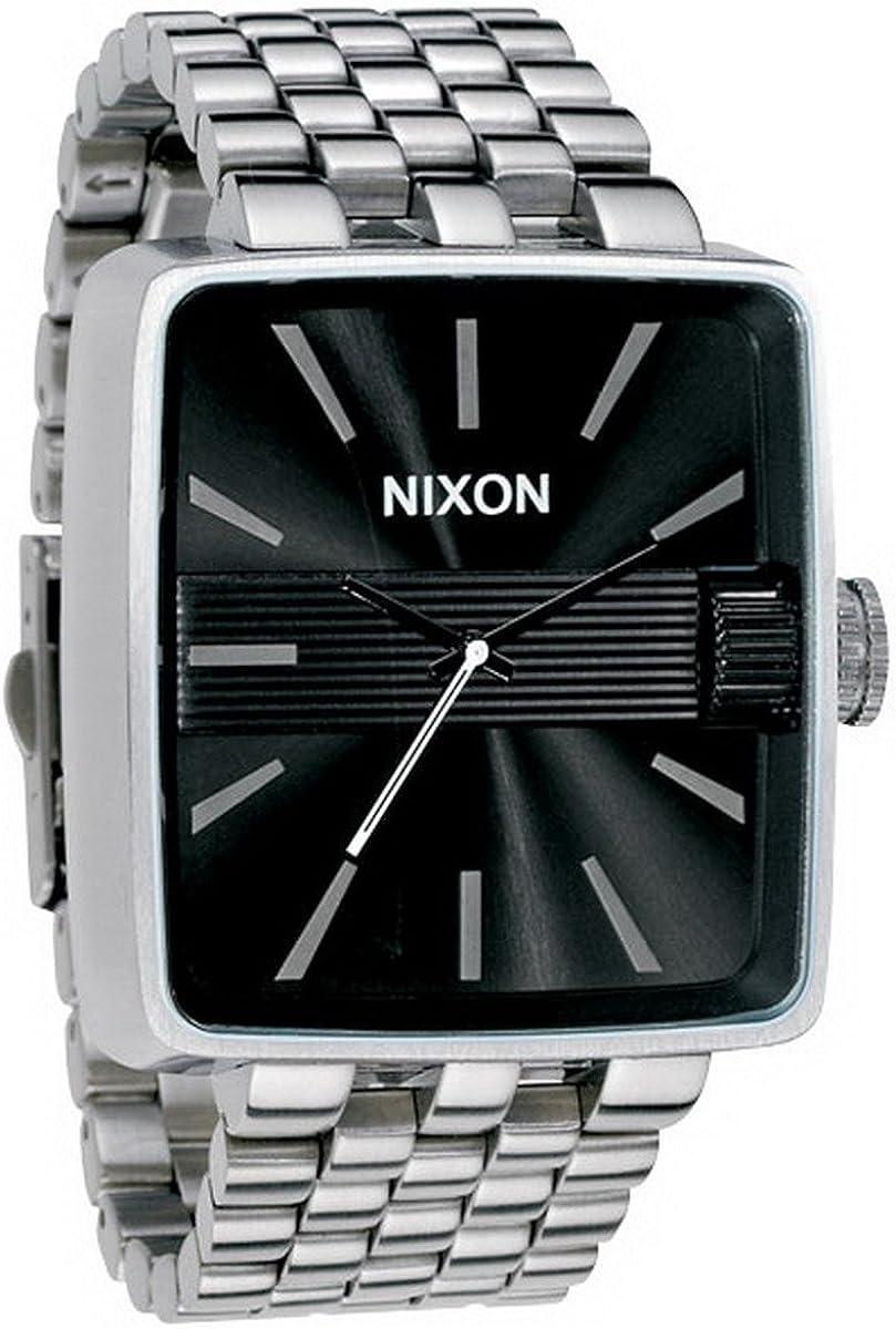 Nixon A004000-00 - Reloj analógico de Cuarzo para Hombre con Correa de Acero Inoxidable, Color Plateado