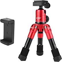 ZOMEI ZM-CK30-RED Tabletop Mini Foldable Travel Selfie Compact Tripod for Canon Nikon DSLR Camera, Red