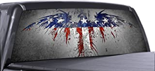 VuScapes - AMERICAN PATRIOTIC 2 - Rear Window Truck Graphic - decal suv view thru vinyl