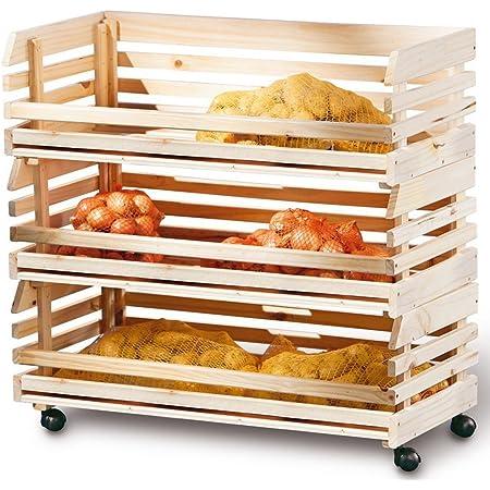 PEGANE Grande Caisse Etagére cagette pour Rangement en Bois empilables pour Fruits et légumes, 79 x 30 x 80 cm