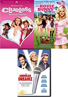 Bunny Girls Fun Movies 3 Pack American Dream Mandy Moore / The House Bunny Ana Faris / Clueless Alicia Silverstone Teen Triple Feature DVD Film Pack