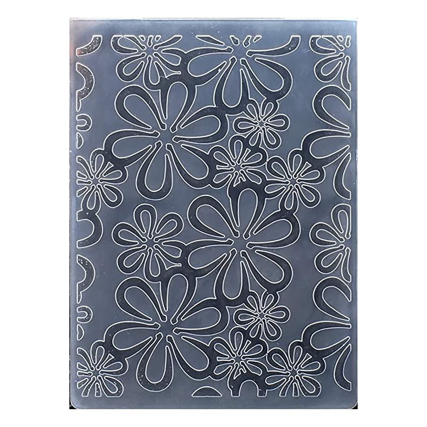 Kwan Crafts Flowers Plastic Embossing Folders for Card Making Scrapbooking and Other Paper Crafts, 10.6x14.5cm