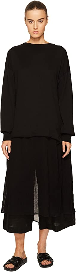 Y's by Yohji Yamamoto - U-Pullover Sheer Bottom Dress