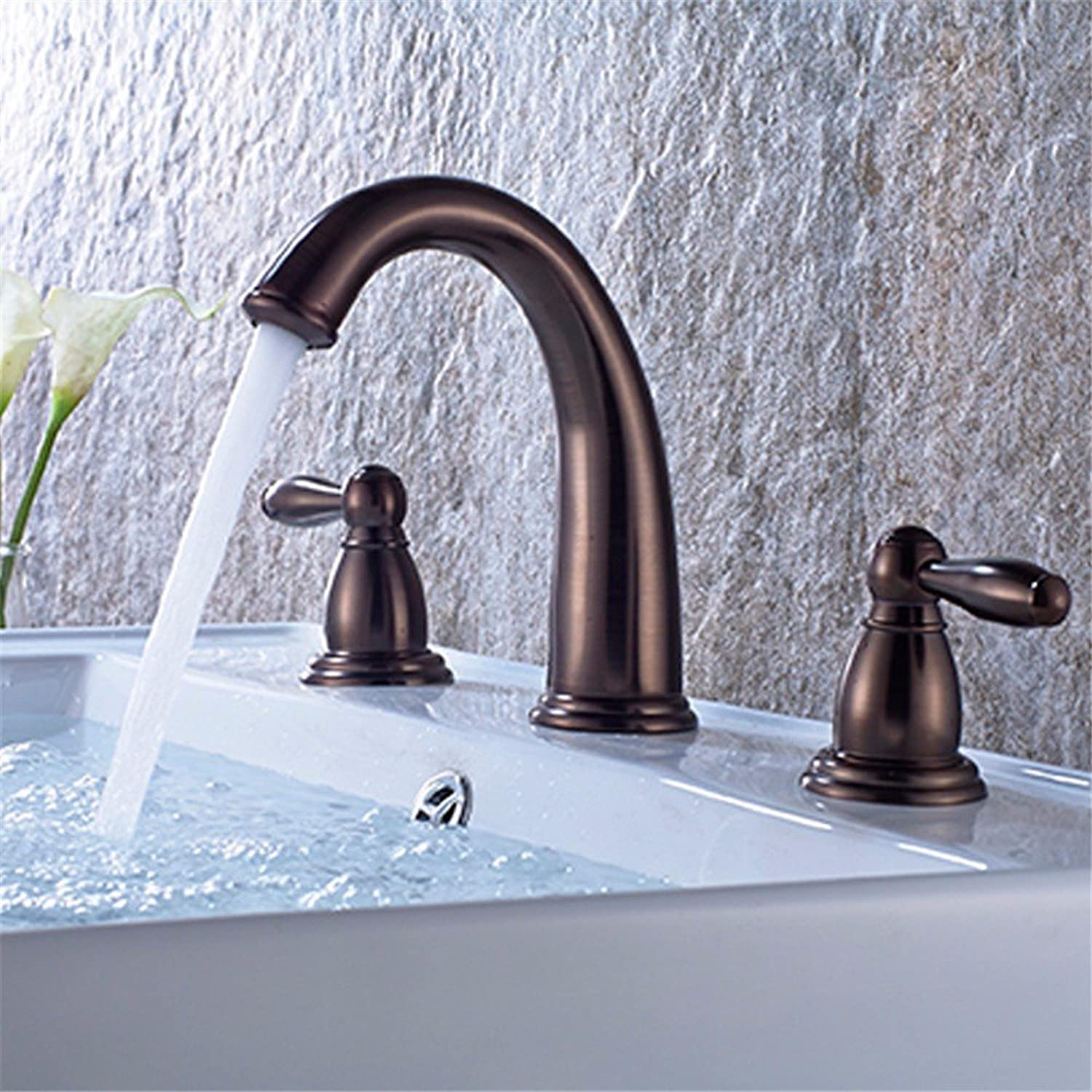 Commercial Single Lever Pull Down Kitchen Sink Faucet Brass Constructed Polished Nordic Modern Minimalist Retro Stainless Steel Bronze Brass Waterfall Bathroom Basin Faucet Hotel Kitchen Bathroom