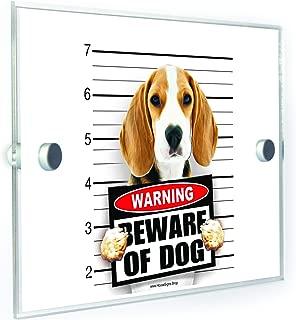 Beagle Beware of Dog House Number Plaque Home Address Sign