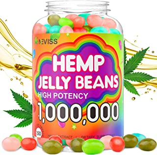 Hemp Jelly Beans for Sleep and Anxiety 1,000,000, Stress Relief, Relaxation, Calm & Mood Support - Organic Hemp Jelly Bean...
