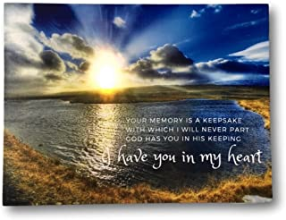 BANBERRY DESIGNS LED Canvas Wall Art Remembrance - Lighted Print with a Memorial Bereavement Expression - Landscape Artwork