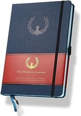 The Phoenix Journal - Best Daily Goal Planner, Organizer, & Calendar for Goal Setting, Gratitude, Happiness, & Produc