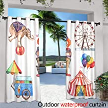 Outdoor Blackout Curtains,Vipsung Microfiber Ultra Soft Hand Towel Ocean Decor by Marine Park Scenery with Sea Creatures Lagoon Jellyfish Scuba Dive Fauna Aqua Theme Multi for,W96 x L96 Outdoor Cur