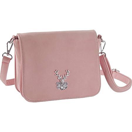 dressforfun 900653 Damen Trachten Handtasche Heimatliebe, Schicke Trachtenhandtasche in Wildlederoptik (Rosa | Nr. 303281)