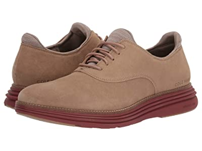 Cole Haan Original Grand Ultra Plain Toe Ox (Safari Suede/Brick Red) Men