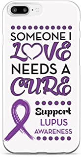 Inspired Cases - 3D Textured iPhone 8 Plus Case - Rubber Bumper Cover - Protective Phone Case for Apple iPhone 8 Plus - Someone I Love - Lupus Awareness