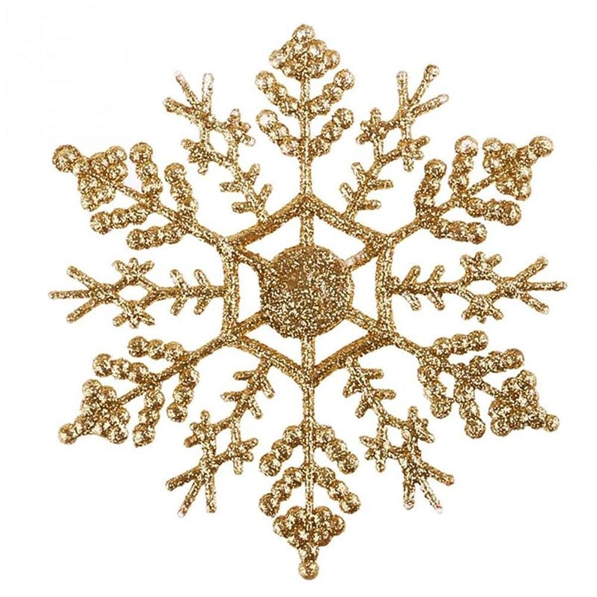 電極太平洋諸島キャンペーン(ドリーミー ハット) Dreamy hut スノーフレーク 雪の結晶 クリスマスオーナメント 飾り 8色入り
