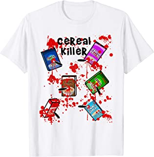 Cereal Killer Funny Easy Lazy Last Minute Halloween Costume T-Shirt
