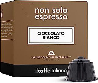 FRHOME - 48 Capsules compatibles aux machines Nescafé Dolce Gusto - Chocolat blanc - Il caffè italiano