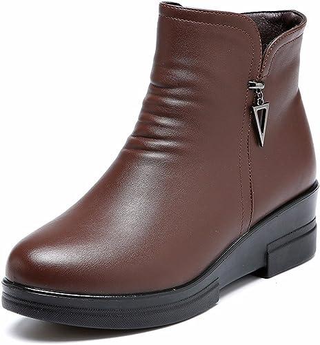 HXVU56546 Invierno Inferior Grueso Acolchado Algodón Con Stiefel damen De Algodón Acolchado Suave Stiefel Stiefel 38 braun Oscuro