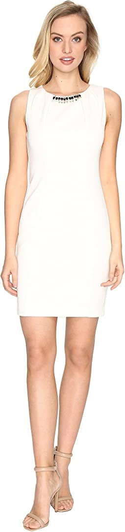 Jessica Simpson Embellished Neck Dress
