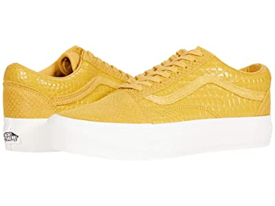 Vans Old Skool Platform ((Animal) Emboss/Honey Gold) Skate Shoes