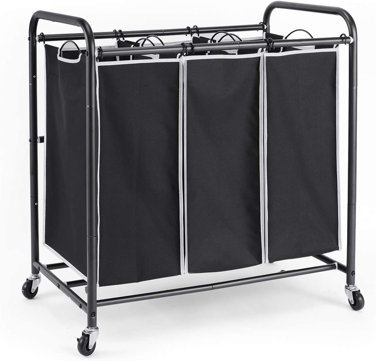 ROMOON Laundry Sorter 3 Rolling with Bag Hamper Challenge the lowest Product price of Japan ☆