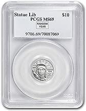 1997 - Present 1/10 oz Platinum American Eagle MS-69 PCGS (Random Year) Issue MS-69 PCGS
