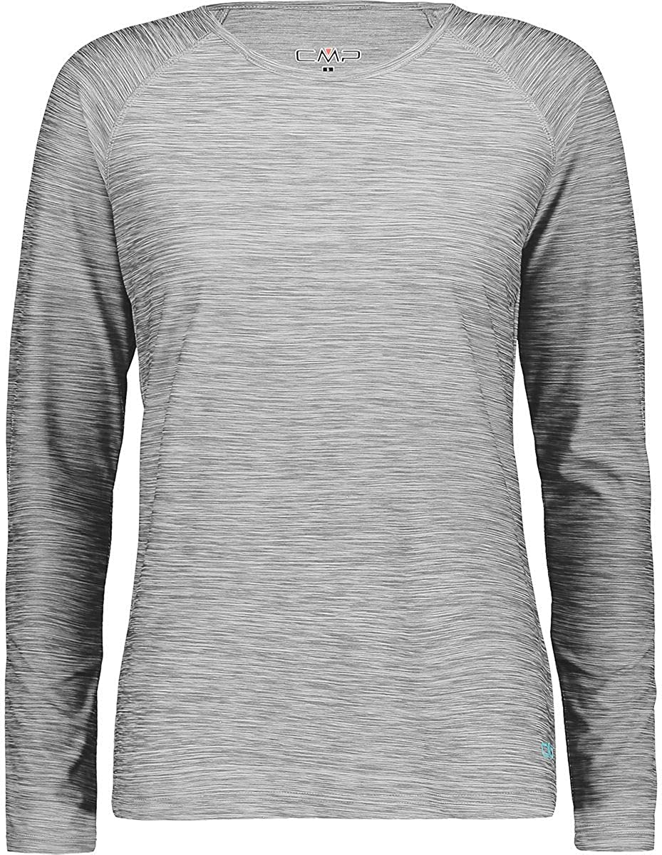 CMP Herren Lang/ärmeliges Melange T-Shirt mit Dry Function-Technologie