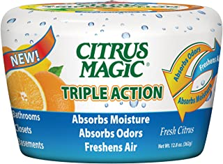 Citrus Magic Triple Action Moisture and Odor Absorber Fresh Citrus, 12.8-Ounce
