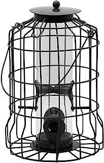 ZHANGXIAOYU Alimentador Jaula, Alimentador de pájaros Anti-Wild, alimentador al Aire Libre, con Grandes semilla de Metal D...