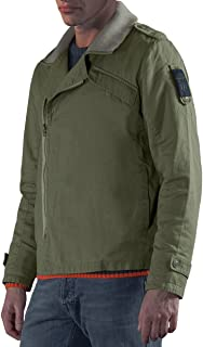 Musterbrand Mens MBWOT009 Tank Captain Casual Jackets, Olive, Medium