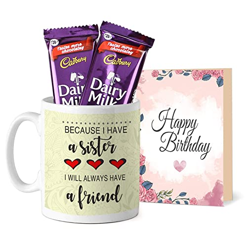 Tied Ribbons Raksha Bandhan Gifts For Sister Rakhi Gift Printed Coffee Mug With Dairy