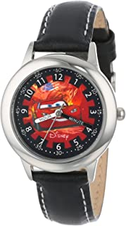 Disney Boys' 30mm Cars Time Teacher Watch With Leather Strap