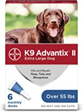 K9 Advantix II Flea, Tick and Mosquito Prevention for X-Large Dogs, Over 55 lbs