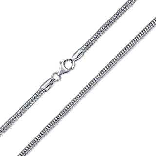 Mens Heavy 320 Gauge Flexible 925 Sterling Silver Snake Chain Necklace For Men Made In Italy 16 18 20 24 30 Inch