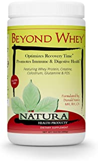 Natura Health Products - Beyond Whey Grass Fed Whey Protein Concentrate - GMO, Hormone, Gluten Free - Natural Maximum Reco...