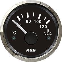 KUS Indicador de temperatura del agua impermeable de 40-120ºC con luz de fondo de 12V/24V 52mm