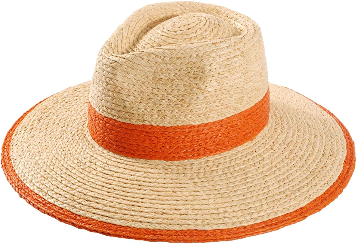 Women's Straw Hat Wide Brim Panama Hats Fedora Sun Hat Summer UV Protection UPF50+ Beach Cap for Both Women Men