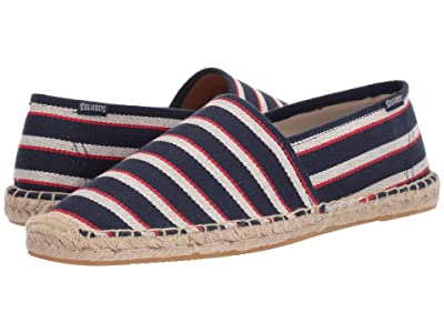 Soludos Stripe Original Dali (Navy/Natural/Red) Men