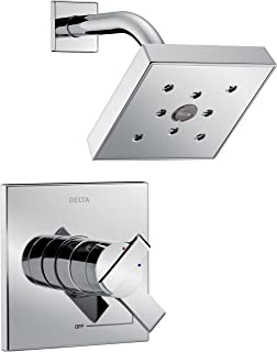 Delta Faucet Ara 17 Series Dual-Function Shower Trim Kit with Single-Spray H2Okinetic Shower Head, Chrome T17267 (Valve Not Included)