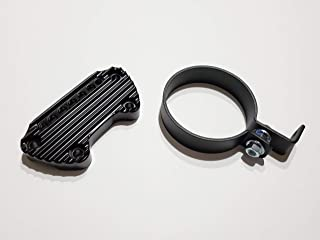 JBSporty ♧ Harley Sportster Iron 48 Roadster 72 Speedometer Relocation Kit w/Handlebar Clamp for indicator lights/Bobber ♤ Ribbed Retro Style!