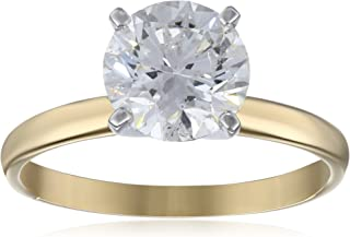 IGI Certified 18k Gold Classic Round-Cut Diamond Engagement Ring (2.0 carat, H-I Color, SI1-SI2 Clarity)