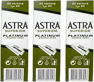 300 Astra Platinum Double Edge Safety Razor Blades (3 x 100)