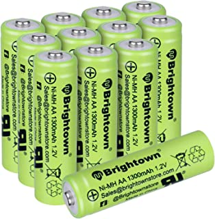 NiMH Rechargeable AA Battery High Capacity 1.2v Pre Charged Double A Battery for Solar..
