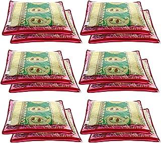 Amazon Brand - Solimo 24 Piece Non Woven Fabric Single Saree Cover Set, Pink